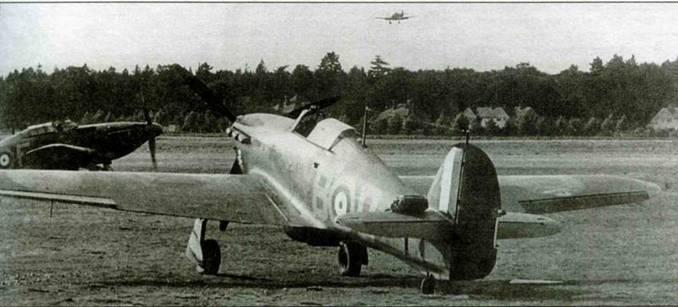 «Харрикейн I» из 87-й эскадрильи выруливает на взлетную полосу, Экзетер, 25 июля 1941) года.