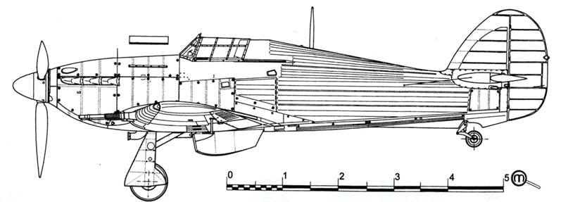 Hawker Hurricane NF MkIIC стандартный вариант
