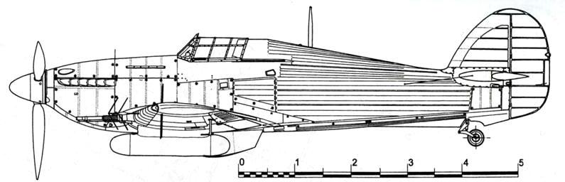 Hawker Hurricane NF MkIIC с радаром