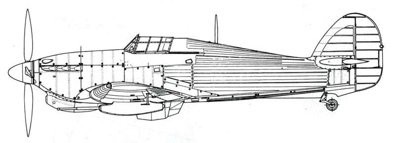 Hawker Hurricane MkIV с четырелопастным винтом