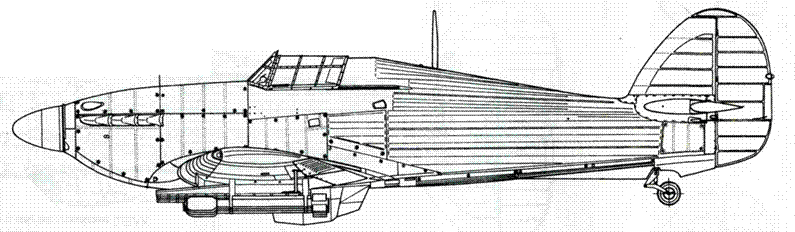 Hawker Hurricane MkIV с ракетами