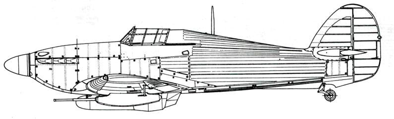 Hawker Hurricane MkIV без тропического фильтра
