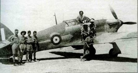 «Харрикейн» 73-й эскадрильи, Западная Пустыня, 1941 год. Самолет несет довоенное обозначение, обычное для «Гладиаторов».
