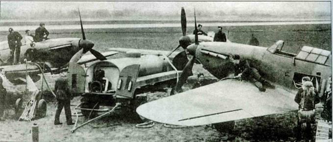 Заправка «Харрикейнов» 601-й эскадрильи, Тангмер, 1940 год.