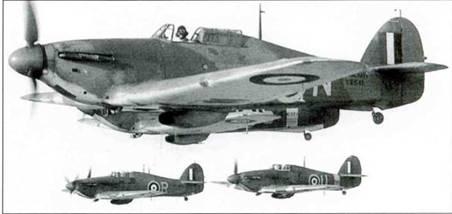 Несколько «Си Харрикейнов IВ», базировавшихся в Йелбертонс, декабрь 1941 года.