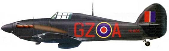 «Харрикейн Mk IIС», HL605, C1Z-A, 32-я эскадрилья. На этом самолете в 1942 году обычно летал чех флайт-лейтенант Послушны.