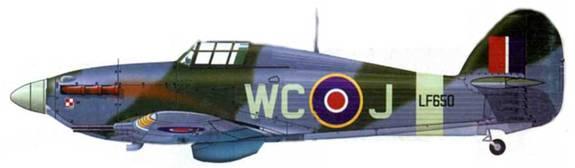 «Харрикейн Mk IIС», LF650, H C-J, 309-я эскадрилья, Дрем, май 1944 года.