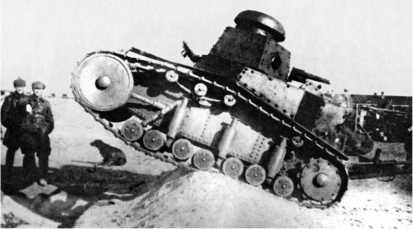 Демонстрация ходовых качеств танка. Особая Дальневосточная армия, октябрь 1929 года.