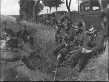 14-я рота на отдыхе во время марша у Мариенбурга.