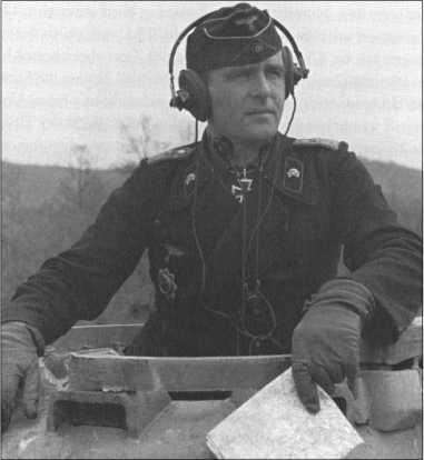 Командир 3-й роты 503-го тяжелого танкового батальона капитан Вальтер Шерф весной 1944 года, он был награжден Рыцарским крестом 23 февраля 1944 года.