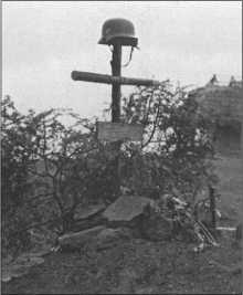 Одна из многих немецких солдатских могил, оставшихся в огромнойРоссии.