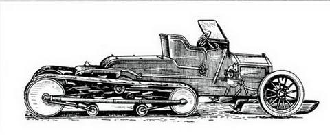 Вездеходные автосани прапорщика А. Кегресса, 1909 г.