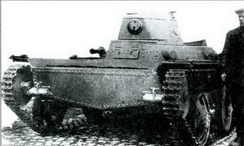 Образец танка Т-43-1 Опытного завода им. Кирова. 1934 г.