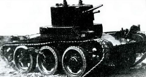 Модель колесно-гусеничного танка КТ-26 разработки ВАММ. 1933 г.