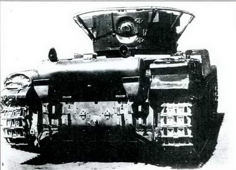 Танк Т-46-1 сзади, 1936 г.