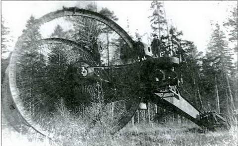 Заброшенный в Орудьево «царь-танк» Н. Лебеденко, начало 1920-х.