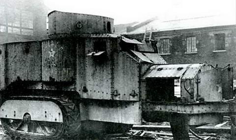 Разбронировка и разборка бронетрактора «Ахтырец» («Красный Петербург»). 1920-е гг.