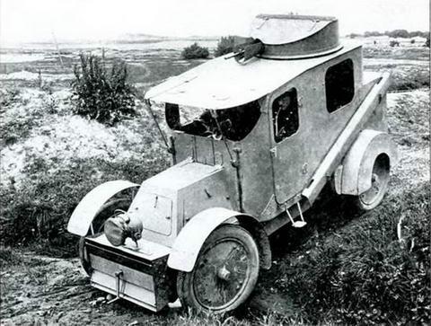 Бронеавтомобиль«Шарон-Жирардо э Вуа»во время его испытаний в России, 1905 г.