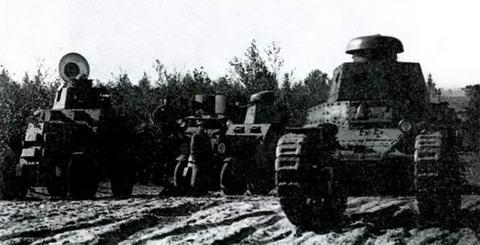 Танки МС-1 и бронеавтомобили БА-27 на «Больших бобруйских маневрах» 1929 г.