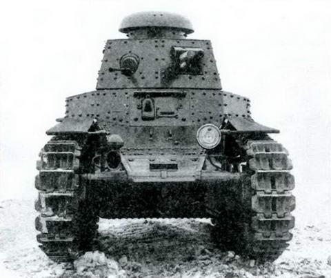 Танк МС- 1(Т-18) после модернизации 1929-1930 гг. Вид спереди.