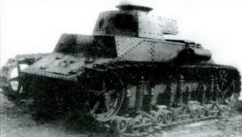 Общий вид экспериментального образца танка Т- 19(МС-2). 1930-1931 гг.