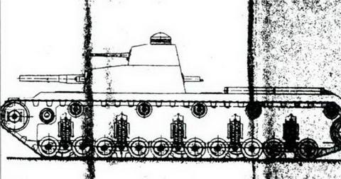Это изображение, видимо, одного из вариантов танка Т-30, 1930 г.