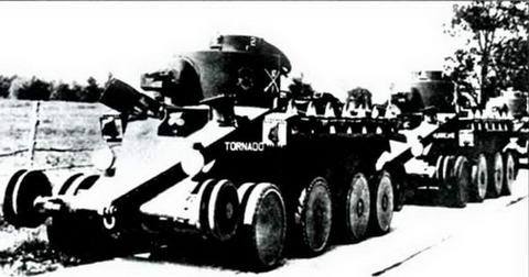 Танки Дж. У. Кристи«Торнадо»и «Харрикейн» в армии САСШ, 1930 г.