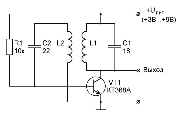 лазерный схема задающего генератора с индуктивной обратной связью следует