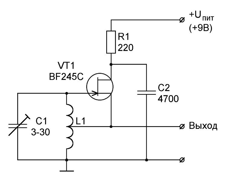 схема LC-генератора на