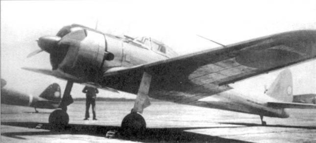Серебристый Ки-43-I из авиашколы в Акено, лето 1942 года.