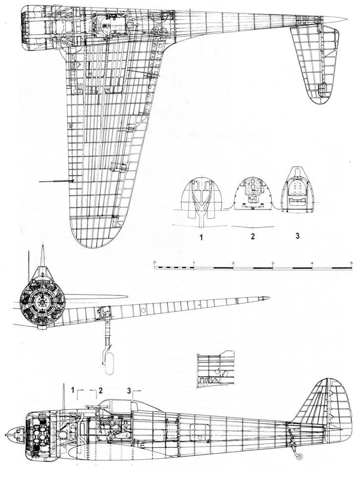 Компоновочная схема Ki 43-I
