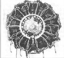 Двигатель Ха-25. Вид спереди и сбоку.