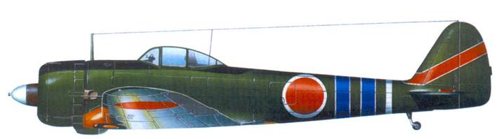 Ки-43-II-Ко, штаб 59-ю сентая, капитан Сигео Нанго (15 побед), аэродром Восточный Бут, Новая Гвинея, ноябрь-декабрь 1943 года.