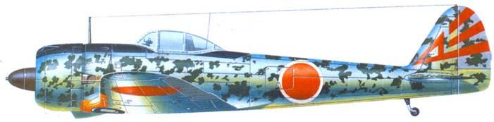 Ки-43-II-Ко (ранней производственной серии), 1-й ч гай, 26-й сен гай, аэродром Палембаш, Суматра, вторая половина 1943 юда.