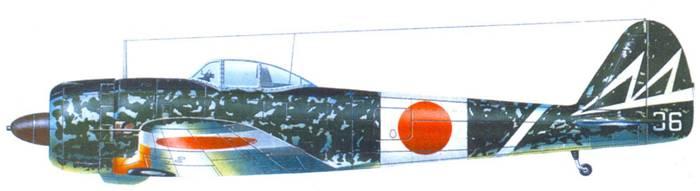 Ки-43-II-Ko, 1-й чутай, 47-й сентай, капитан Тосио Кидзима, аэродром Наримасу, район Токио, конец 1944 года.