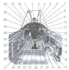 Кабина истребителя Ки-43-I-Хей «Хаябуса»