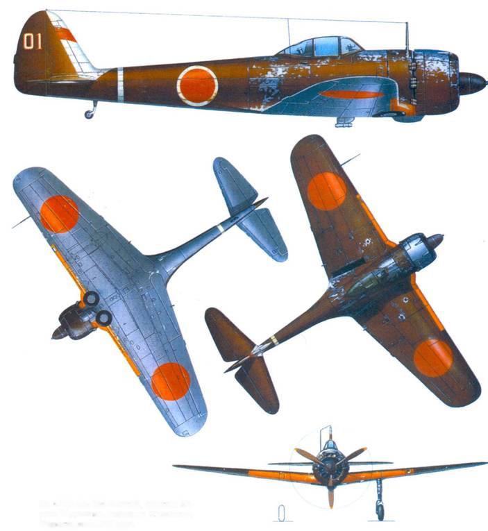 Ки-43-III-Ко, 204-й сентай. капитан Хироси Мураками, аэродром Суньшань, Формоза, лето 1945 года.