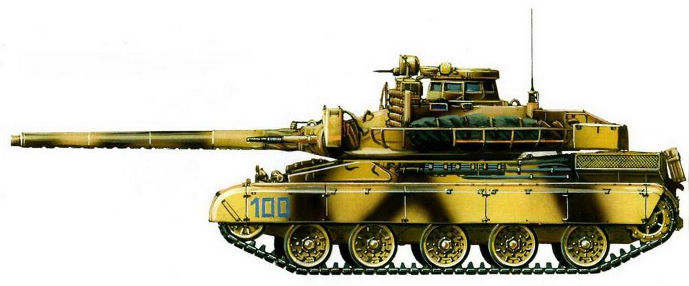 АМХ-30В2, 1-й эскадрон 4-го драгунского полка. Операция «Буря в пустыне». 1991 г.