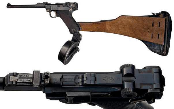 LP.08 / Lange Pistole 08 / P.17 / Artillery Luger