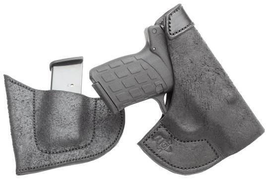 Пистолет Kel-Tec PF-9 обладает малыми габаритами, что отлично видно на этом фото, а органы управления оружием расположены доступно. К примеру, крупная защелка магазина, размещающаяся в основании спусковой скобы, позволяет быстро отсоединить магазин и осуществить перезарядку за кратчайший промежуток времени. Удобство и правильное удержание рукоятки достигнуто использованием полимерной крышки магазина с передним выступом, на который опирается мизинец стрелка. Особенно хорошо качества этого превосходного компактного пистолета проявляются в сочетании с правильно подобранной кобурой для удобного и необременительного постоянного скрытого ношения, такой как кобура Side Guard Holsters LLC.