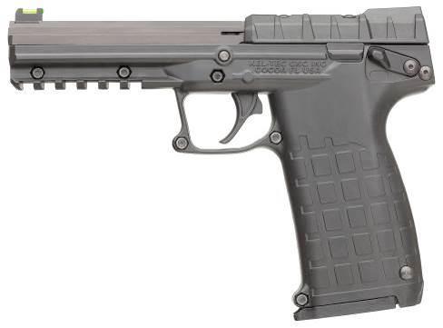 Самозарядный пистолет PMR-30 представляет собой весьма неординарный образец личного оружия в отношении дизайна и компоновки. Но при этом пистолет оснащен проверенным за столетие эксплуатации в самозарядных пистолетах флажковым предохранителем. Его рычаги удобно расположены по обе стороны рамы, позволяя быстро привести оружие в боеготовность простым движением большого пальца вниз при извлечении пистолета из кобуры, как правой, так и левой рукой. На данном фото предохранитель включен.