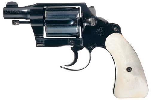 Colt Detective Special второй модели в стиле «Fitz Special» с удаленной спицей курка и передней части спусковой скобы.