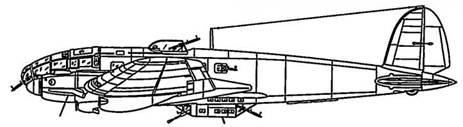 He 111Н-3 двигатели Jumo 211D-1 с общим выхлопным коллектором