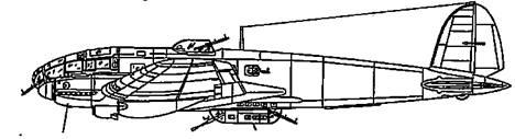 He 111 Н-6 двигатели Jumo 211F-1 илиi F-2 с индивидуальными патрубками
