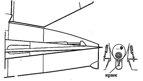 Крепление устройства для буксировки планера