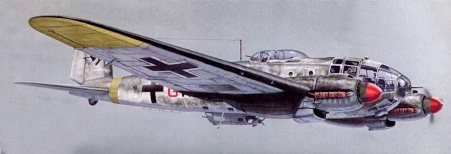 He 111Н-16 (5J+GN) одной из бомбардировочных эскадрилий на Восточном фронте, зима 1942-43.