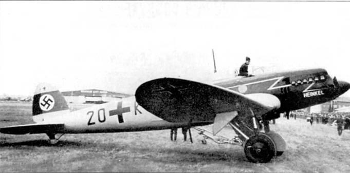 Легкий транспортный самолет Хейнкель Не-70 впервые поднялся в воздух в конце 1932 г. Самолет имел много конструктивных нововведений, главными из которых являлись: цельнометаллическая конструкция, убираемое шасси и крыло, эллиптической в плане формы. Все эти основные отличия позже были учтены в ходе проектирования бомбардировщика Не-111. В 1936 г. самолет Не- 70F-I поступил в 3-й стаффель Aufklarungsgruppe (F)-I23.