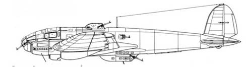 He 111Р-2 двигатели DB600A-1 с воздухозаборниками с левой стропы мотогондолы