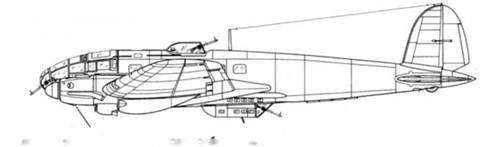 He 111Н-1 двигатели Junto 211А-1 с воздухозаборником карбюраюра с правой стороны мотондолы