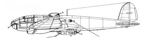 20-мм пушка MG FF в гондоле 7,92-мм пулеметы MG 15 с обоих сторон фюзеляжа
